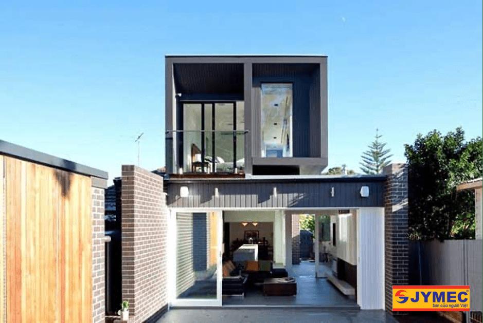 nhà 2 tầng mái bằng giá 700 triệu đẹp