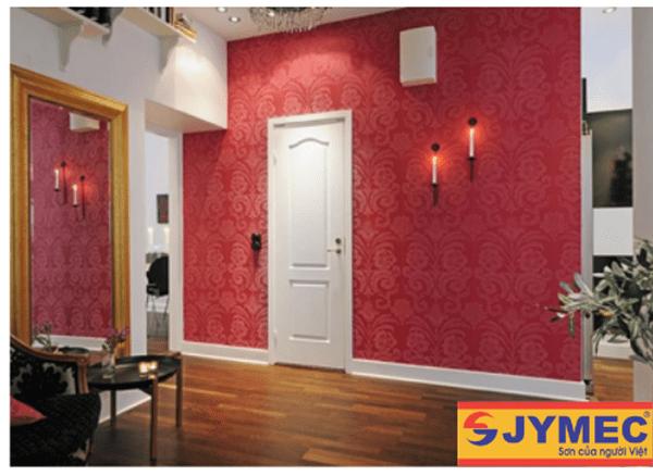 trang trí tường nhà bằng hoa văn sơn nội thất hình 2