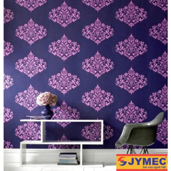 trang trí tường nhà bằng hoa văn sơn nội thất hình 3