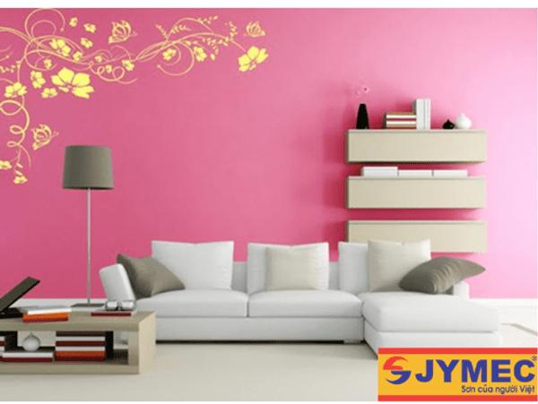 trang trí tường nhà bằng hoa văn sơn nội thất hình 4